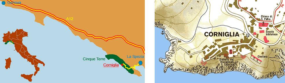 Corniglia Italy Map.Sandra Villa Rooms Corniglia Vernazza Cinque Terre Liguria Italy